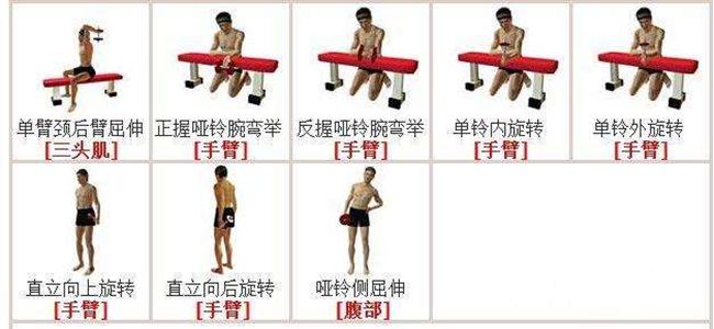 哑铃锻炼方法图解 5个动作教你用哑铃练出迷人胸肌
