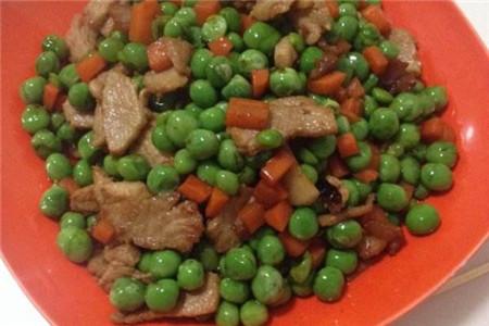 青豌豆炒肉